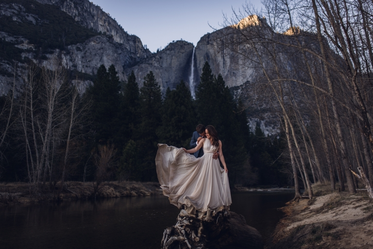 this adventurous couple eloped in yosemite national park